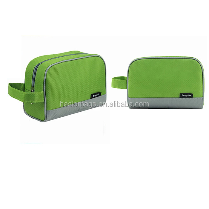 Trendy cosmetic travel wash bag with handle