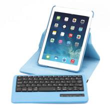 360 degree swivel rotate wireless bluetooth keyboard case for ipad mini/ ipad mini2/ ipad mini3
