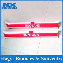 custom plastic or PE inflatable balloon stick clappers inflatable bang bang stick for EU cup