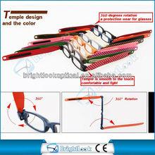 2013 The Style Award 2015 fashion optical frame with mini 360 degrees rotation reading glasses