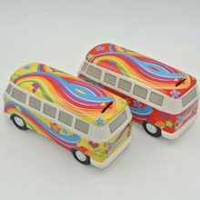 2 style multicolor new arrival ceramic car piggy bank coin money cash collectible savings cute big car money box gifts