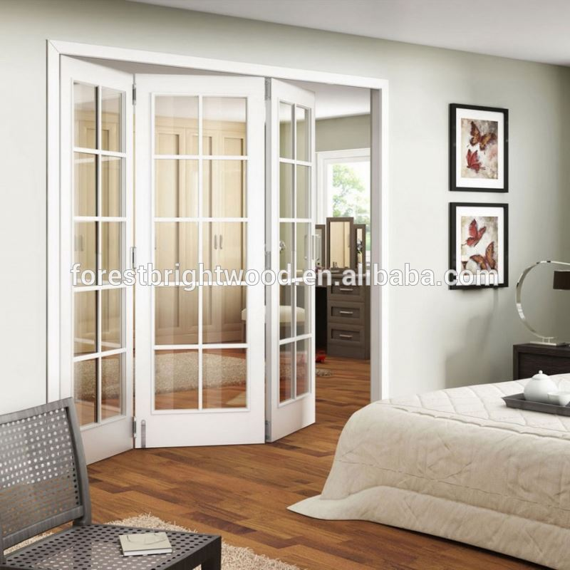 White Frosted Window Glass Bifold Doorinterior Fancy French Door