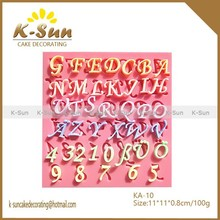 NEW reposteria moldes silicone form letters numbers moldes de silicone para pasta americana molde de silicone
