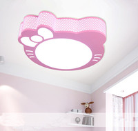 Iron kids bed room reading room kids area ceiling girls favorate hello kitty lamp