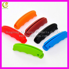 fashion silicone bag holder/ silicone hand bag carrier/silicone grocery bag handle