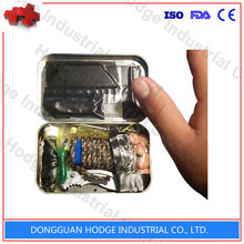 Top quality tin box content list camping survival kit