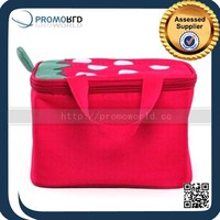 600D Fabric Strawberry Print Insulated Cooler Bag