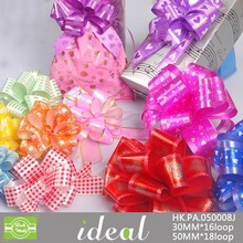 easy to use gift decoration plastic printting ribbon bows