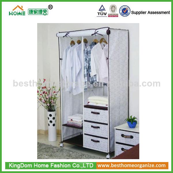 Armario Ropero Metal : Plegable armario ropero con marco de metal