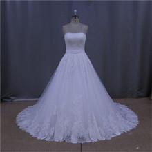 real sample of full sleeve column wedding dress