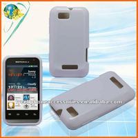 Solid white TPU cell phone case For Motorola XT320 Defy Mini