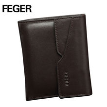 FEGER hot sale european real leather smart wallet for men