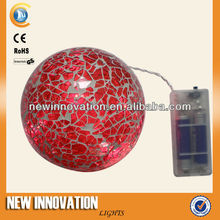 5L Warm White Led Pink Crackle Glass Ball Light Gift