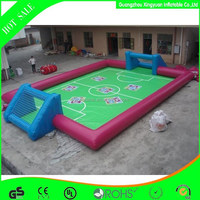 2014 Quality Warranty inflatable football pitch for sports competition