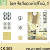 popular cheap shining glass crystal mosaic stones for living room