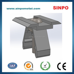 Solar mounting aluminum center clamp for roof