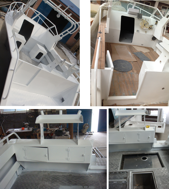 High quality marine aluminum welded cuddy cabin hard top for Aluminum boat with cabin for sale