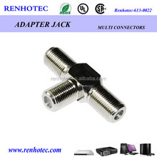 China factory manufacturer T type three female F connector