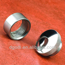 special custom chrome plated steel dome end caps
