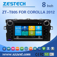 factory price movement car dvd player For TOYOTA Corolla 2012 support 3G audio DVB-T MP3 MP4 HDMI DVD function