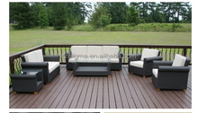 2015 High end synthetic rattan modern free used hotel furniture for sale