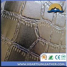 Auto - adhésif papier décoratif pour meubles PU / PVC souple artificial en cuir tissé ou non tissé tissu