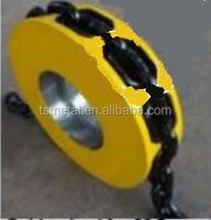chain wheel with hole for stud link chain