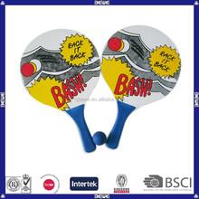 new products popular beach ball set wood beach racket
