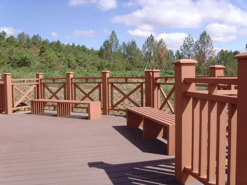 Outdoor stair rail wood railings balcony wpc