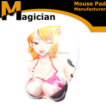 3d big breast disposable gaming custom mouse pad for waterproof
