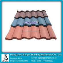 Coloful Sand Stone Coated Roof Tile/Aluminum Zinc Roofing Shingle/Classical Coated Steel Roof materials