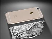 3D angel 2 in 1 metal PC case for iphone 6, 6plus
