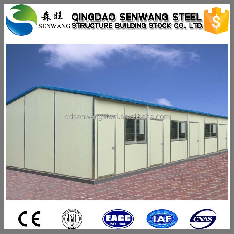 Low cost of light steel structure prefab living house for Cost to build a hotel