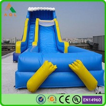 Commercial summer toys adult size inflatable water slide with blower