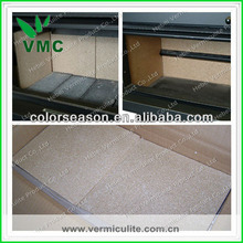 vermiculite heat shield around the stove