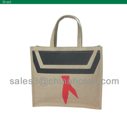 Popular shopping jute bag Promtional jute bags, jute promotional handbags