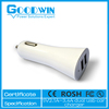 Hot selling mi ni USB car charger for cell phone 2 port charger with LED light