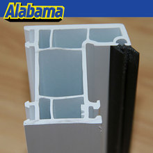 White soundproof design hot selling pvc profiles windows and doors