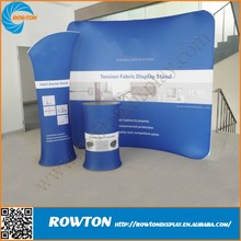 Light weight custom aluminum frame curved trade show display expo booth
