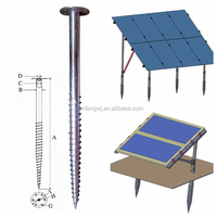 Galvanized Pole Anchor Factory/Screw Ground Anchor for Solar Energy/Screw Ground Anchor