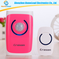 Fashion design premiun portable wireless door chime and push button with 4 in 1 function