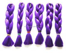 Fashionable purple kanekalon synthetic yaki crochet braids hair