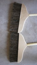 wood handle horse hair mix PP fiber floor brush