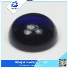 China wholesale websites dark blue round glass stone