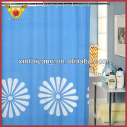 Big Floral Shower Drapes Bathroom Simple Curtains Models