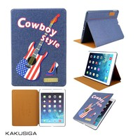 New arrvial tablet case for iPad air! Jeans cover for iPad, case for iPad 5!