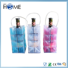 Private Label Portable Collapsible PVC Wine Cooler Bag for Beer Bottle