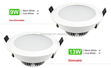 6w 10w 12w LED recessed downlight with remote control