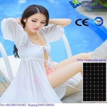 high efficiency Good Price 250w Mono solar panel photo cells PV Module for Solar System Power Plant with TUV