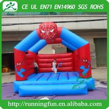 Hot inflatable moonwalk bouncer, spideman mini inflatable kids jumper for sale
